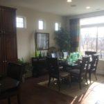 Dining area in Riviera model at Fairway Villas at Green Valley Ranch in Denver