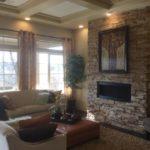 Family room in Augusta model Fairway Villas at Green Valley Ranch in Denver
