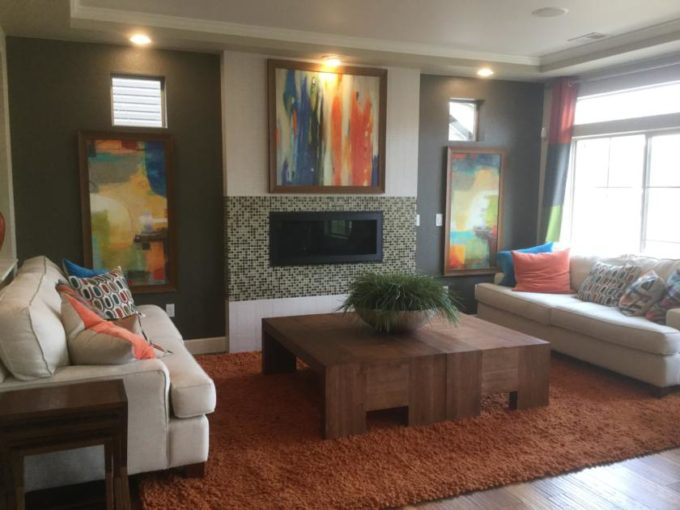 Family room of Yampa model at Green Valley Ranch in Denver