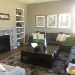 Living room of model at High Point by Century Communities in Denver.
