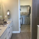 Master bath in Gleaneagle model at Green Valley Ranch in Denver.