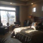 Master bedroom in Augusta model Fairway Villas at Green Valley Ranch in Denver