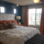 Master bedroom of of Yampa model at Green Valley Ranch in Denver