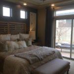 Master bedroom of Gunnison model at Green Valley Ranch in Denver