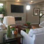Family room in Lansford model at Green Valley Ranch in Denver
