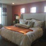 Master bedroom in Lansford model at Green Valley Ranch in Denver
