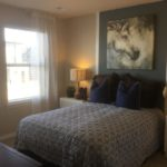 Bedroom of the Legacy model by Lennar at Stapleton in Denver