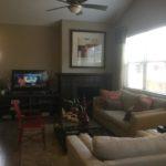Family room of Clarkson model at Stapleton in Denver