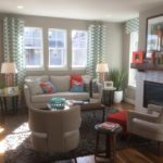 Family room of the Maple model by KB Homes at Stapleton in Denver.