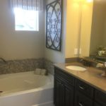 Master bath of the Cedar model by KB Homes at Stapleton in Denver