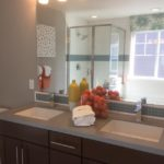 Master bathroom of the Maple model by KB Homes at Stapleton in Denver.