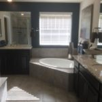 Master bathroom of the Legacy model by Lennar at Stapleton in Denver