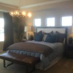 Master bedroom of the Legacy model by Lennar at Stapleton in Denver