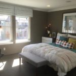 Master bedroom of the Maple model by KB Homes at Stapleton in Denver.