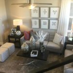Looking down into great room of the Greenwich model in the CityScapes collection by Richmond in Littleton Colorado