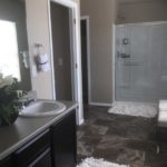 Master bath of the Galen model by DR Horton at High Point in Denver