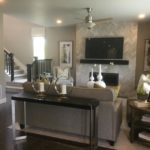 Greatroom of the Yorktown model home by Richmond at Cobblestone Ranch in Parker Colorado