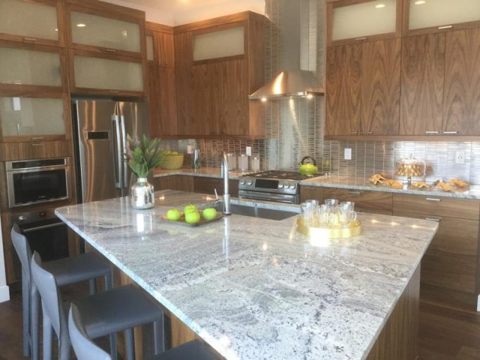 Kitchen island of Signature 4 model by Brookfield Residential at Sterling Ranch in Littleton Colorado