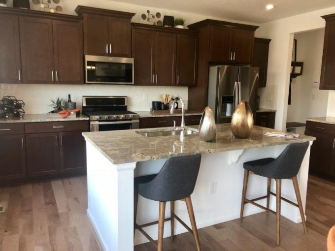 The Waterton model by Meritage Homes at Buffalo Highlands in Commerce City Colorado