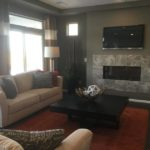 Great room of Cortez model at Vista Point at Green Valley Ranch in Denver.