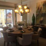 Dining area of the Asheville model by Parkwood Homes at Stapleton in Denver