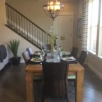 Dining area of the Cedar model by KB Homes at Stapleton in Denver