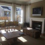Family room of the Asheville model by Parkwood Homes at Stapleton in Denver