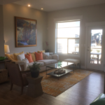 Family room in the Highland model by Thrive Home builders at Stapleton in Denver